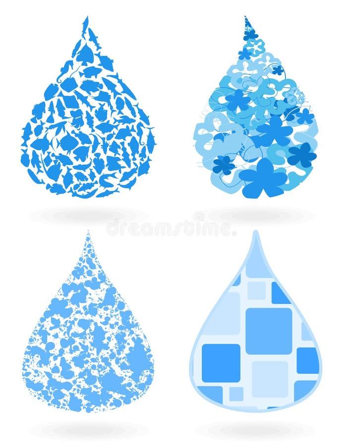 Download Water drop8 stock vector. Image of aquarium, animal, macro - 20706625
