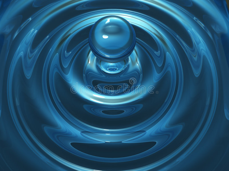 Water droplet. 3d rendered image of water droplet stock illustration