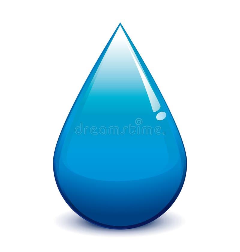 Water droplet. Vector blue water droplet illustration