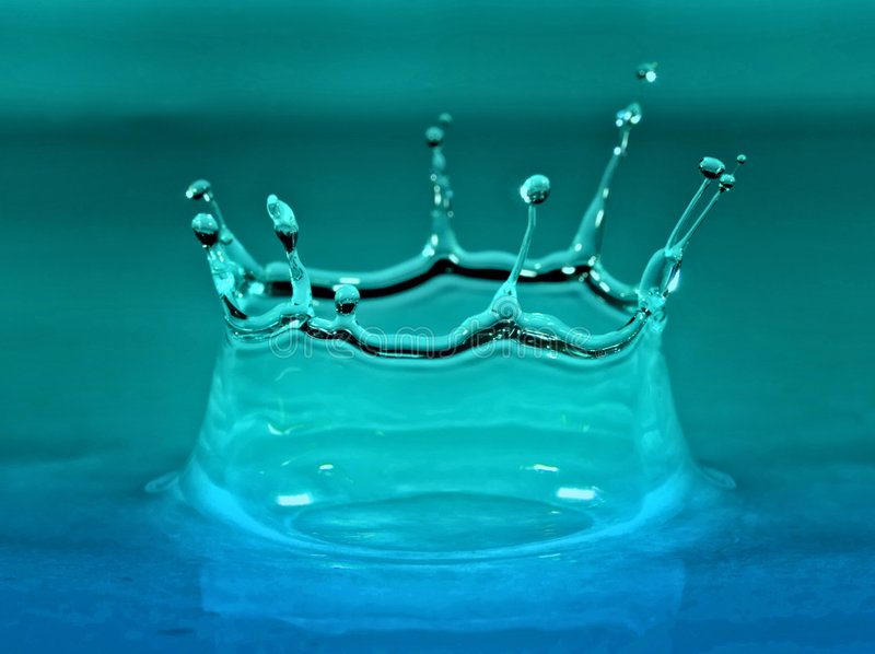 Download Water Droplet With Blue And Cyan Color Stock Image - Image: 4638851