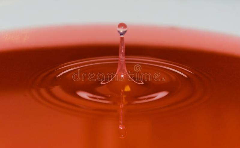 Water droplet captured in high speed royalty free stock photography