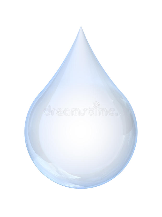 Download Water Droplet stock illustration. Image of up, isolated - 34897433