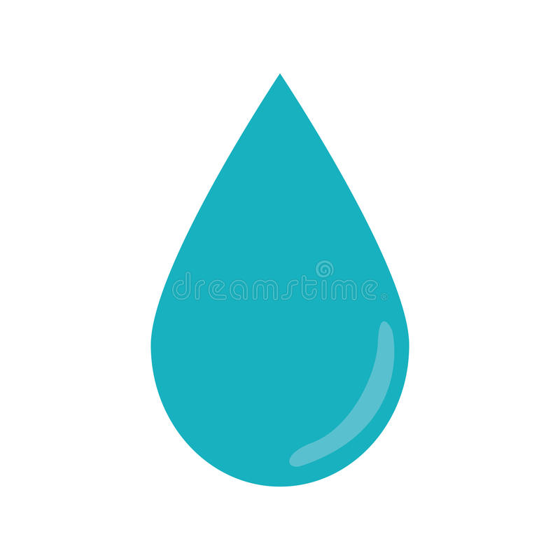 Water droplet icon image royalty free illustration