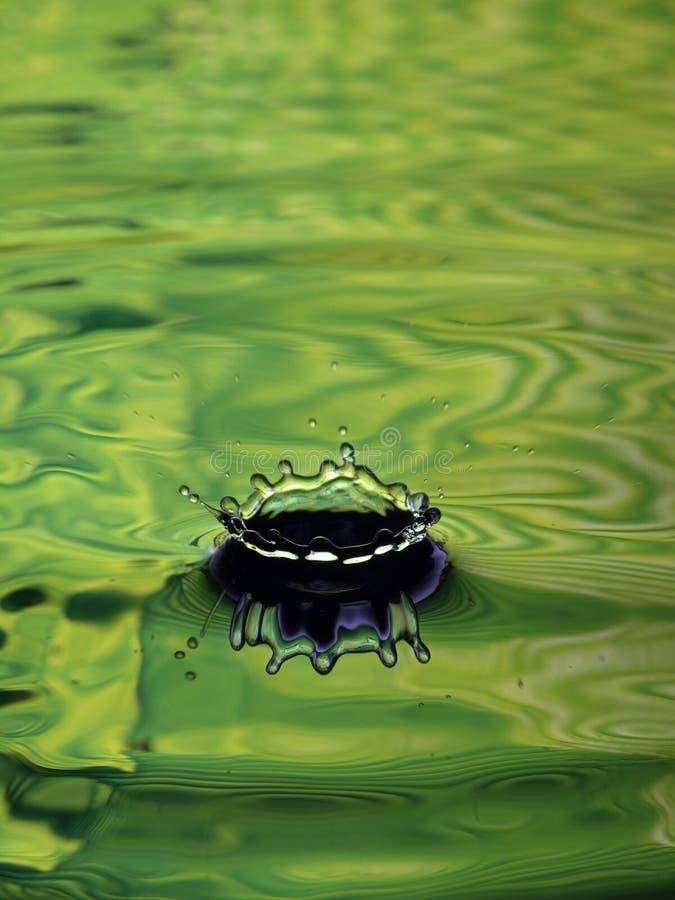 Download Water Droplet Ripple Light Green Ring Splash Stock Image - Image: 10065721
