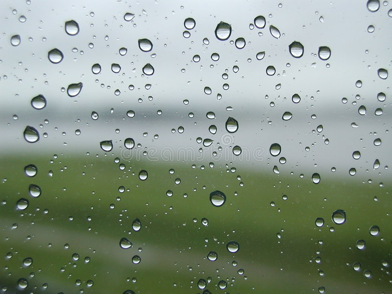 Water droplets stock image