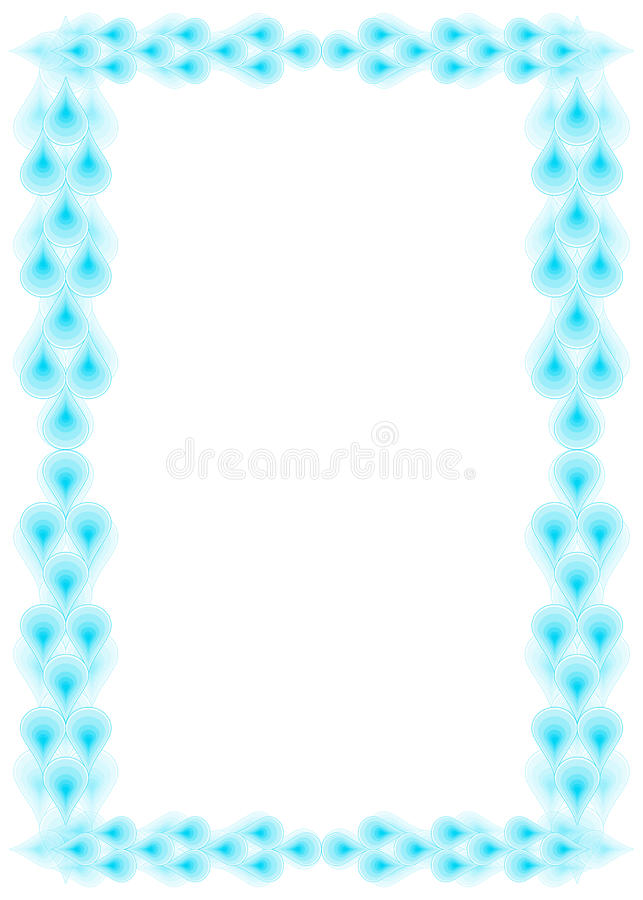 Water droplets border royalty free stock images