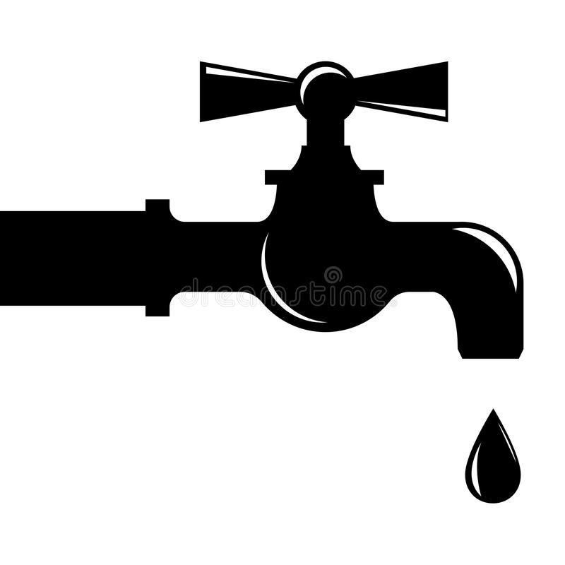 Water droplets from faucet stock vector. Illustration of plumbing ...