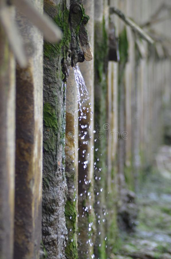 water droplets by the river thames in london royalty free stock photo
