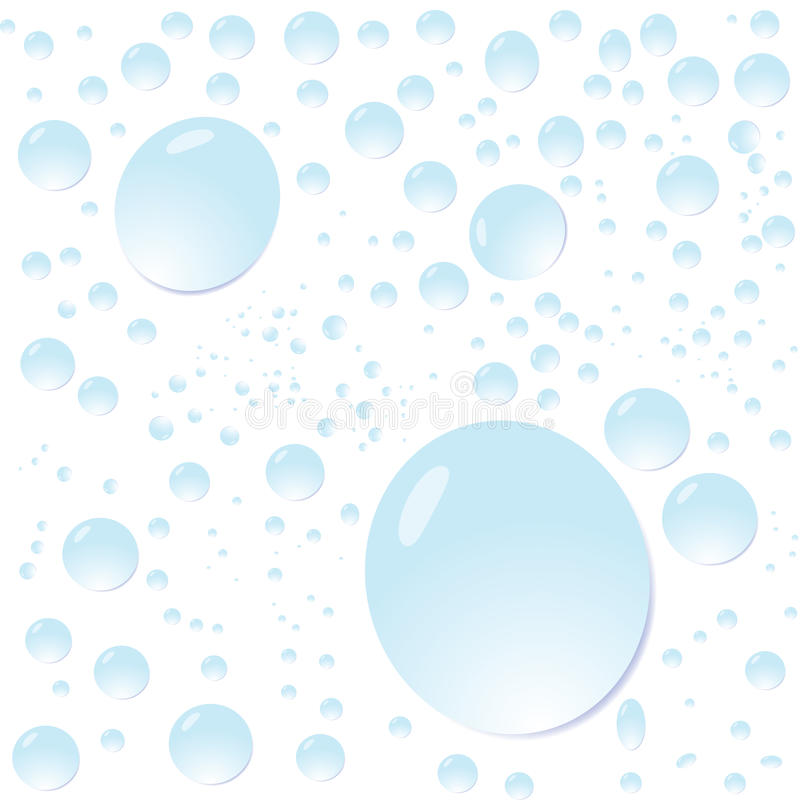 Water drops. Vector background with water drops on white vector illustration