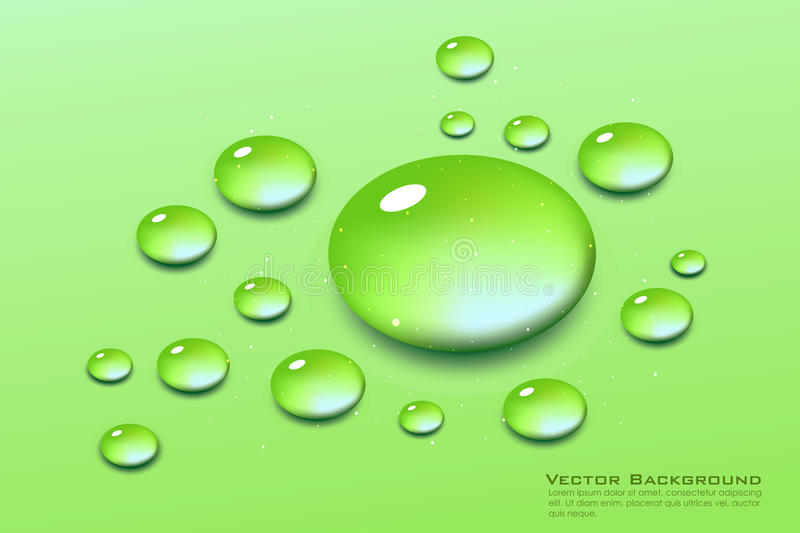 Download Water drops stock vector. Illustration of dewdrops, frame - 17557812