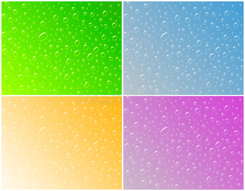 Water drops,. Water drops on glass. Background royalty free illustration