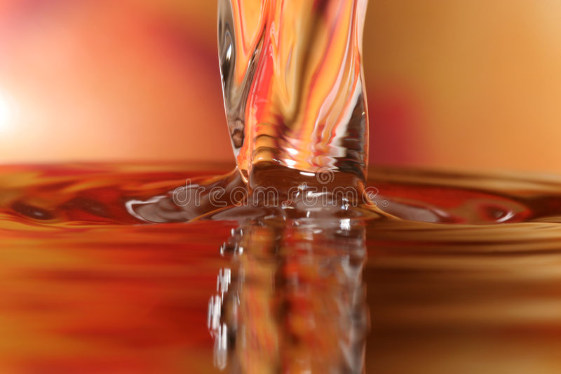 Water Drops. Color -close-up stock photography