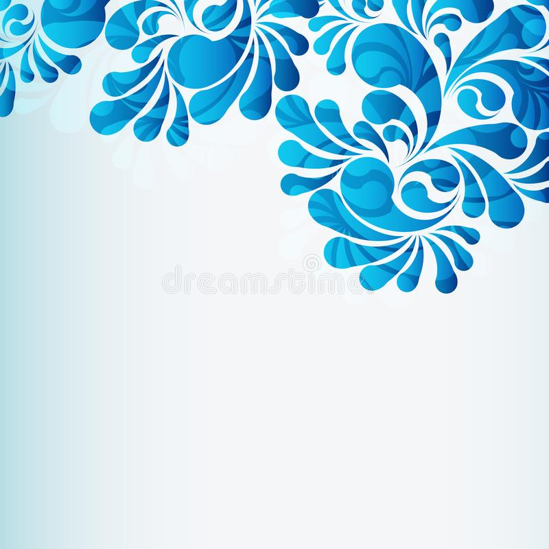Water drops blue background, vector desing element. Water drops background, vector illustration royalty free illustration