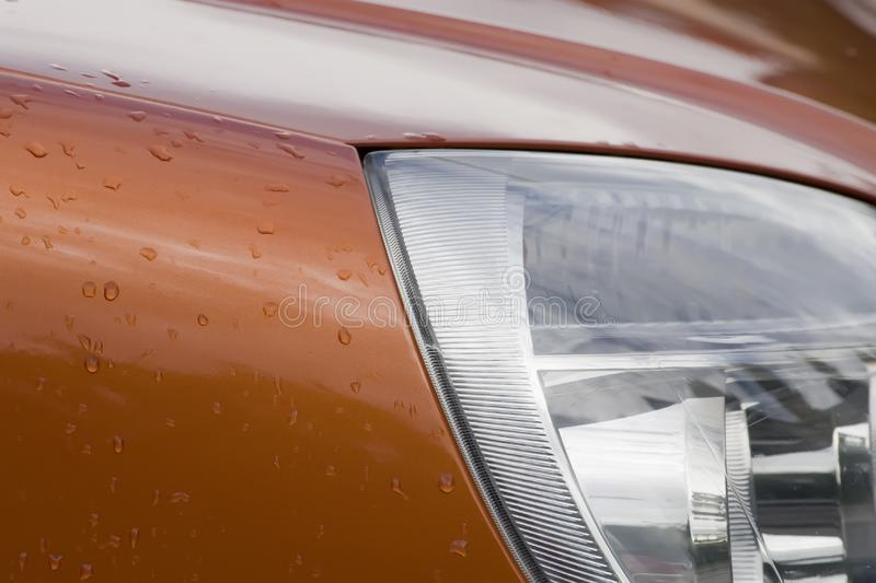 Water drops on car stock images