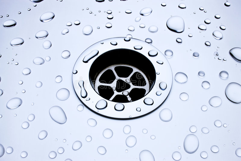 Water Drops Drain Background stock photography
