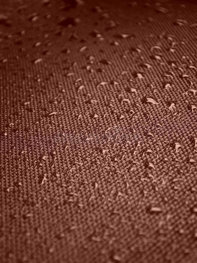 Water drops on fabric texture stock photo