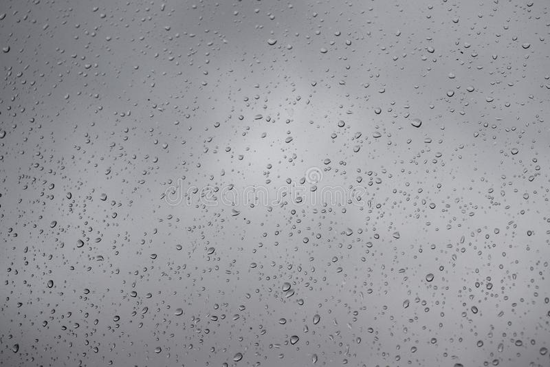 Water drops on glass. Surface stock photo
