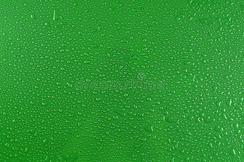 Download Water Drops On Green Stock Photography - Image: 1704272