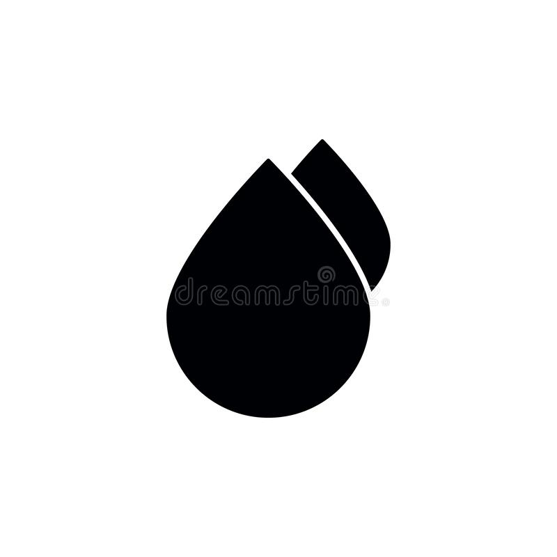 Water drops icon. Simple glyph vector of universal set icons for UI and UX, website or mobile application. On white background vector illustration