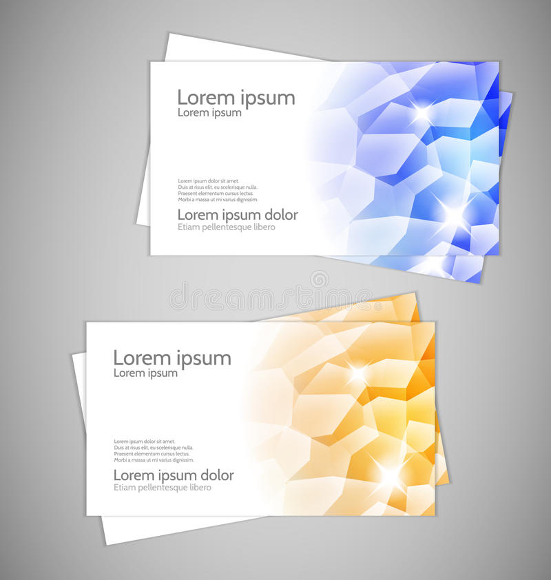 Water Drops - Modern Business Cards Royalty Free Stock Photo