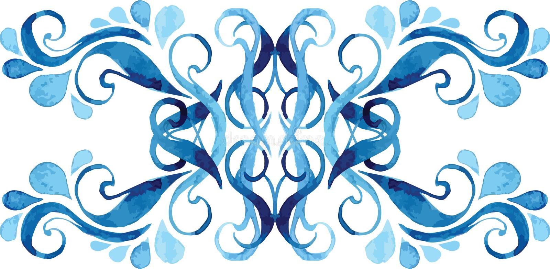 Water drops ornament stock illustration