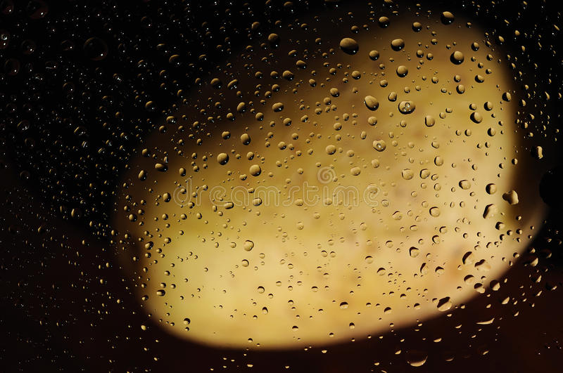 Water drops and potato royalty free stock images