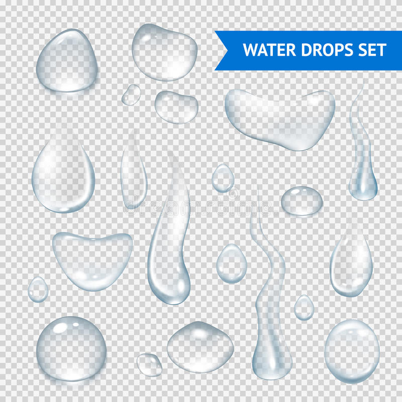 Free Water Drops Realistic Stock Images - 48886184