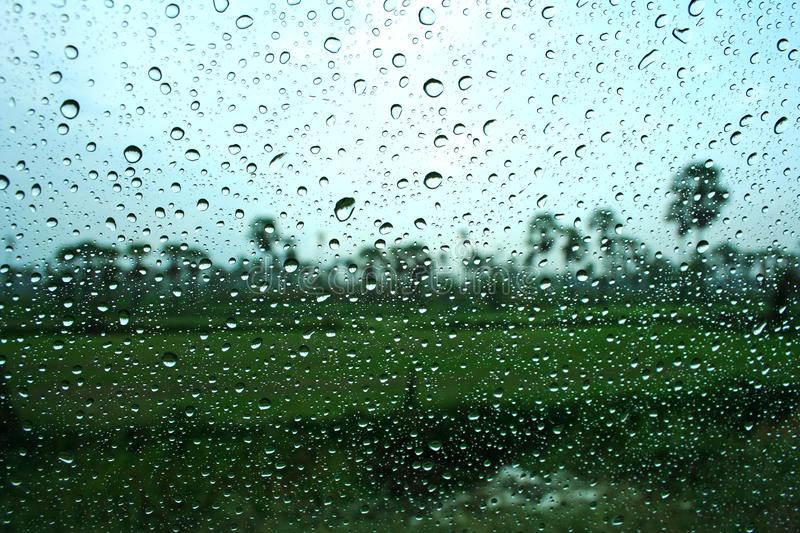 Water Drops On Window Royalty Free Stock Photos