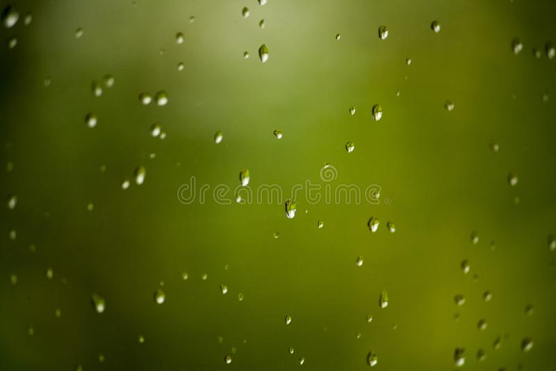 Water drops on a window royalty free stock photo