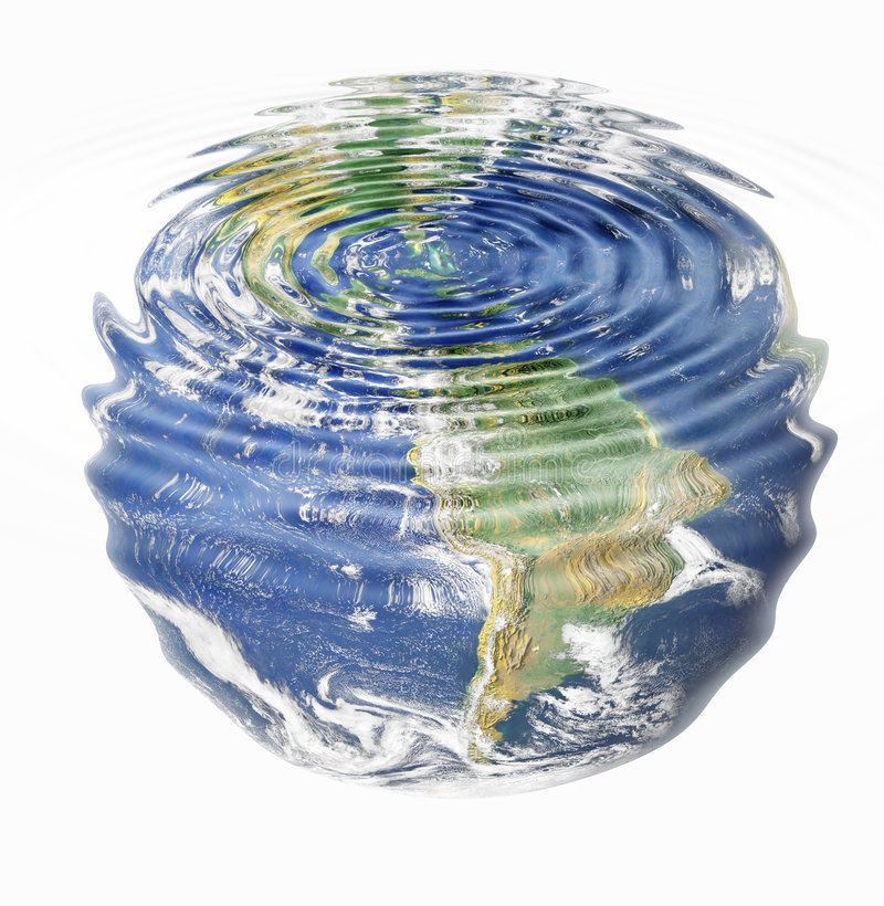 Water earth stock illustration