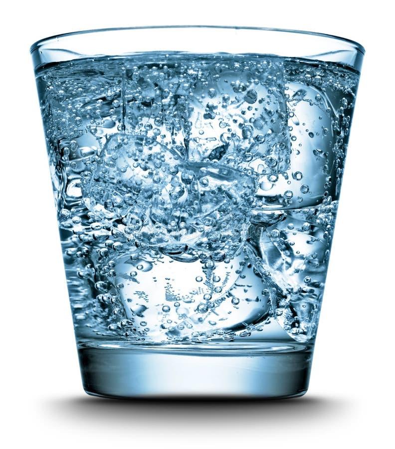 Water in een glas stock fotografie