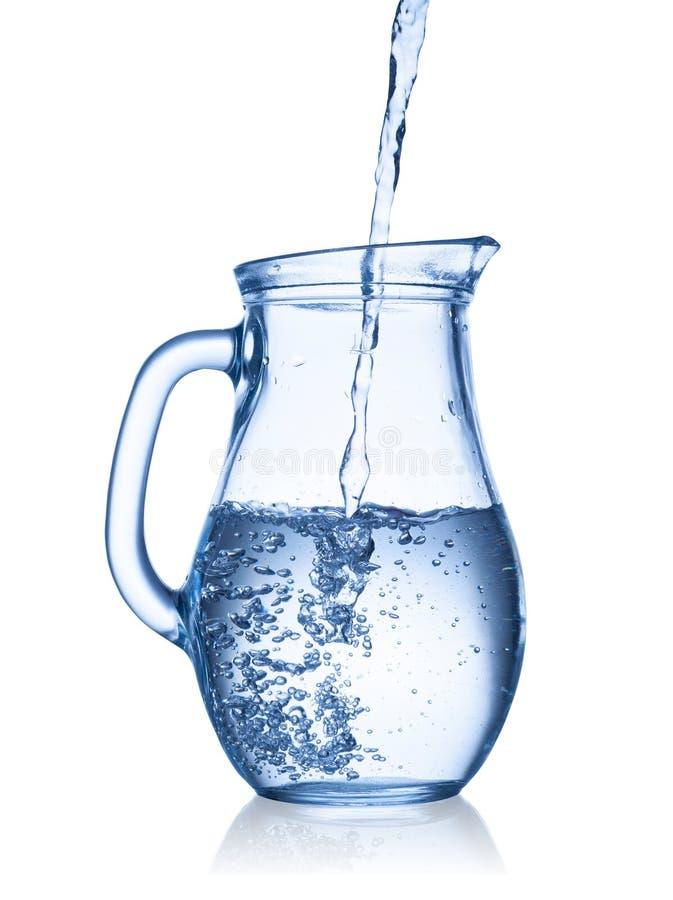 Water in een kruik stock foto's