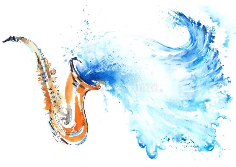 Water en golven royalty-vrije illustratie