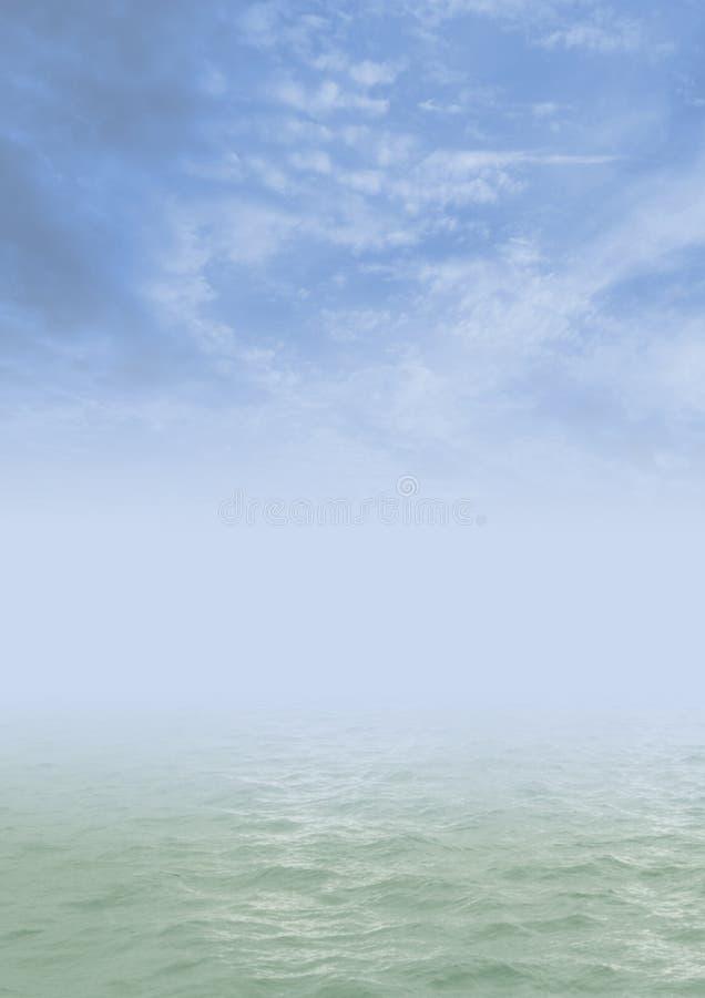 Water en hemelen stock foto's