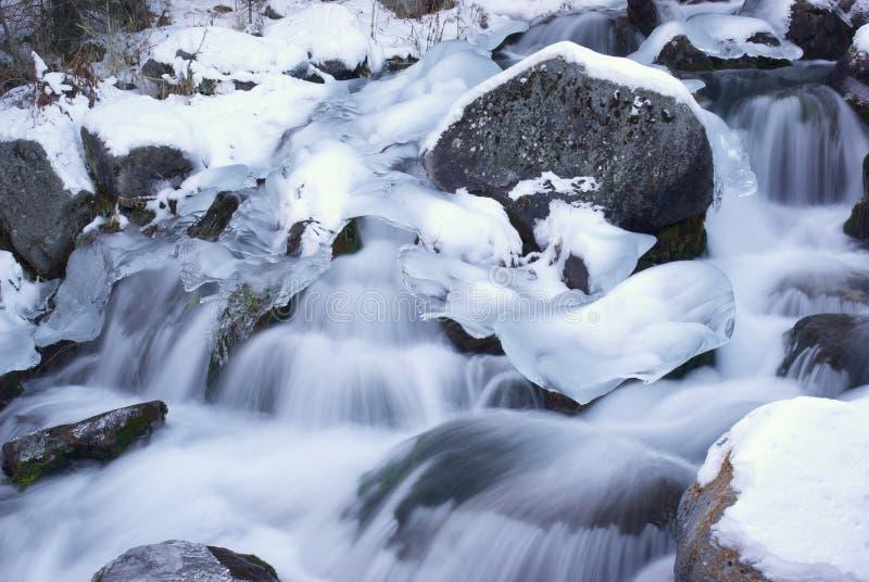Water en ijs royalty-vrije stock afbeelding