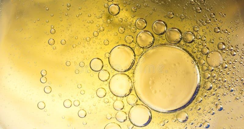 Water en oliebellenachtergrond royalty-vrije stock foto
