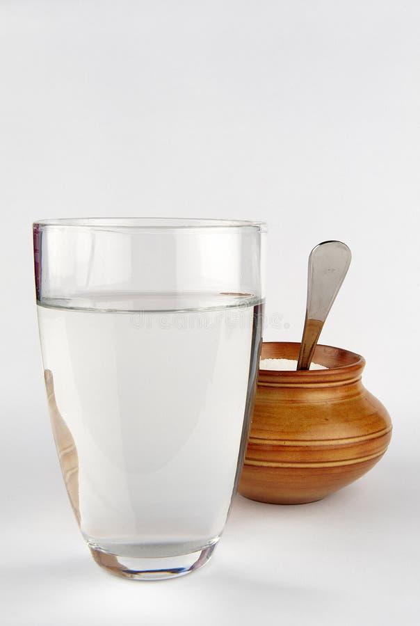 Water en suiker stock foto's