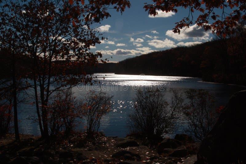 Water en vegetatie het park van de staat van Harriman New York stock foto