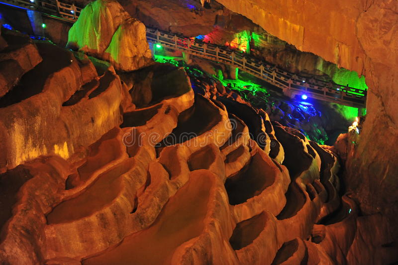 Water-eroded cave. Yunnan China stock photo