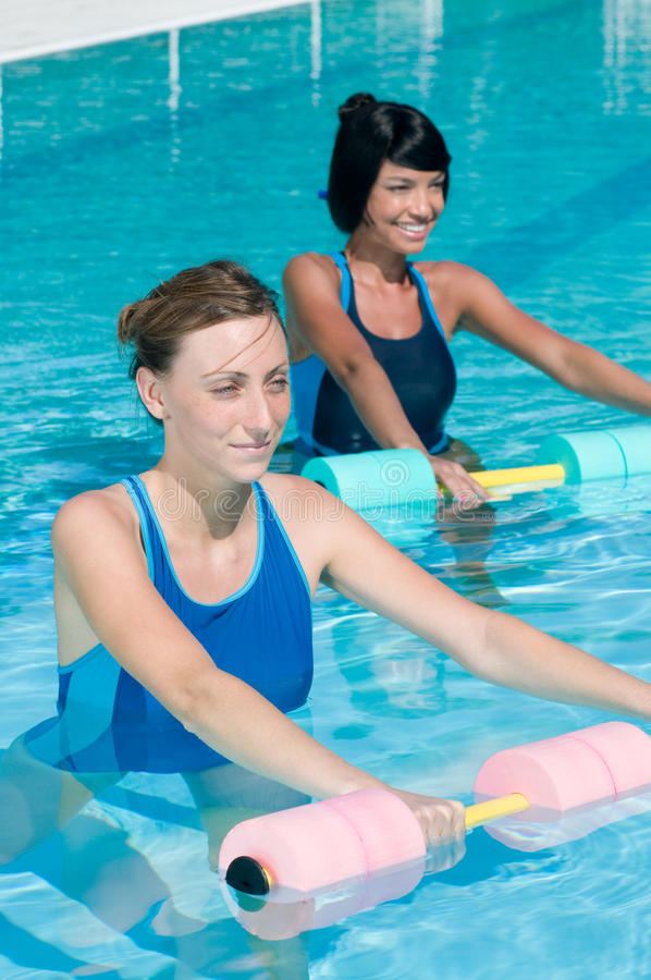 Download Water Exercising With Aqua Dumbbell Stock Photo - Image: 17526640