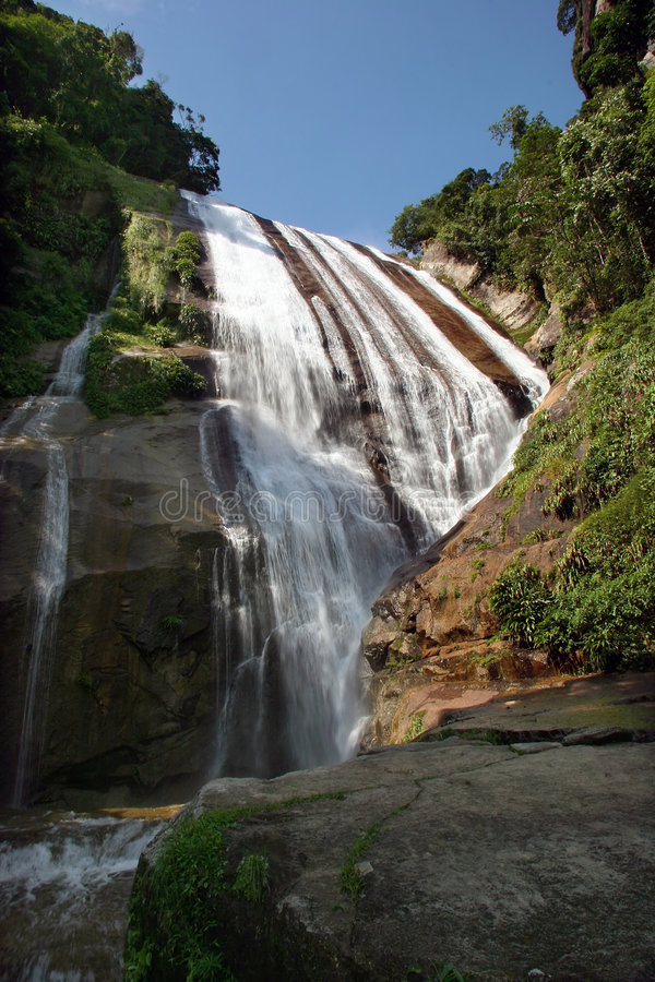 Water fall. In ilhabela, brazil stock images