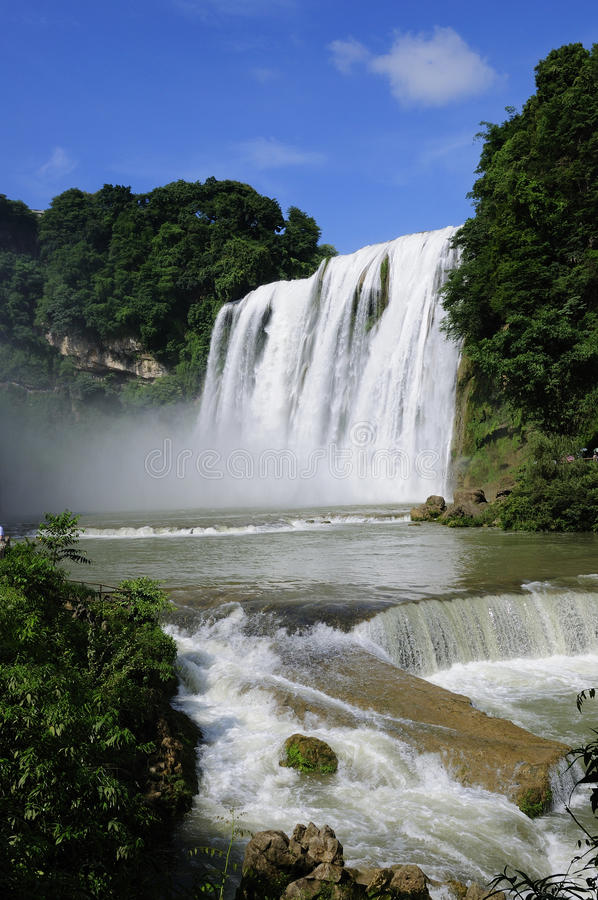 Water fall. The name of this waterfalls is HuangGuoShu,Located in Guizhou Province, China, it's one of the most famous waterfalls in China royalty free stock photography