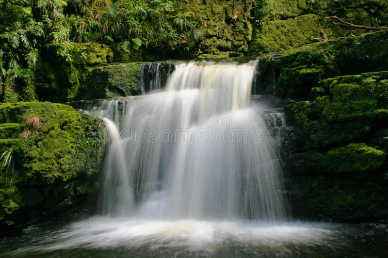Download Water fall stock image. Image of stone, blured, moss - 21045007