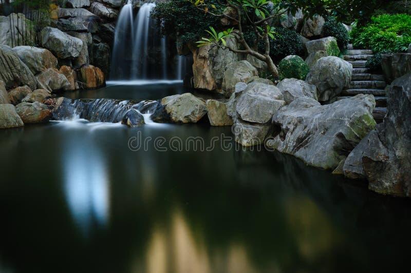 Water Fall. Chinese Gardens Darling Harbor Sydney NSW Australia stock photo