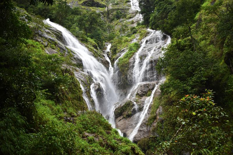 Water Fall, Amazing Travel and popular viewpoint in Thailand. Photo royalty free stock photo