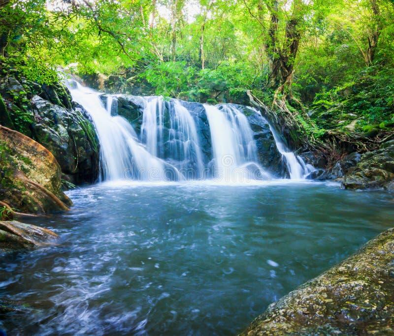 Water fall Chet Khot. Level 1 Saraburi thailand stock photo