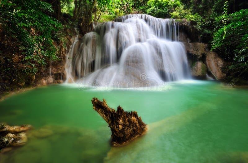 Water fall. Hua mae kamin, kanchanaburi, thailand royalty free stock images