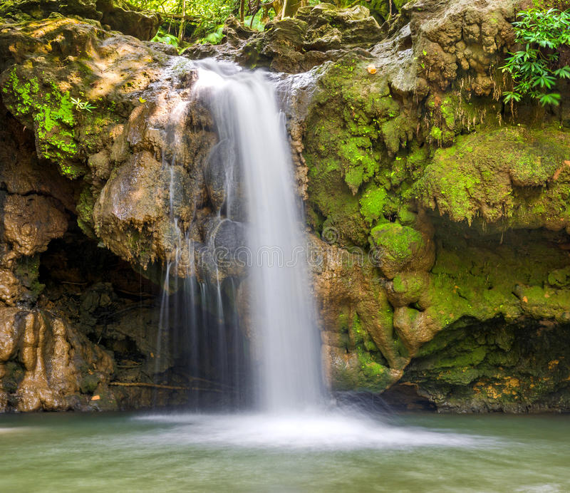 Water fall. Natural water fall in an indian forest stock photo