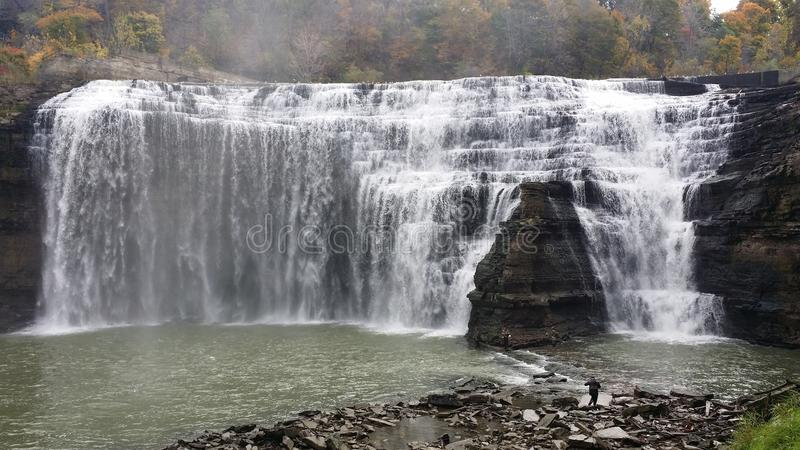 Water fall ny Genesee river royalty free stock photos