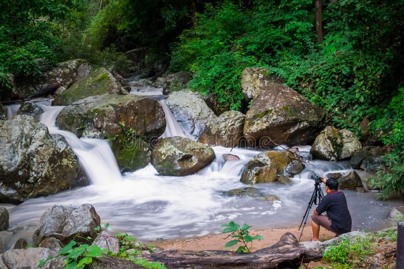 Water fall Photography lover. stock photography